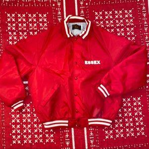 Vintage 1980s Red Pla-Jac by Dunbrooke Snap Jacket
